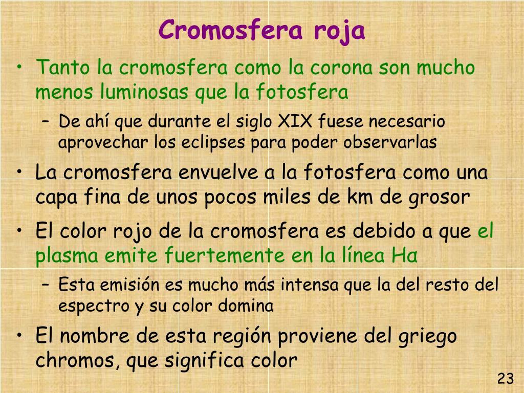 Cromosfera roja