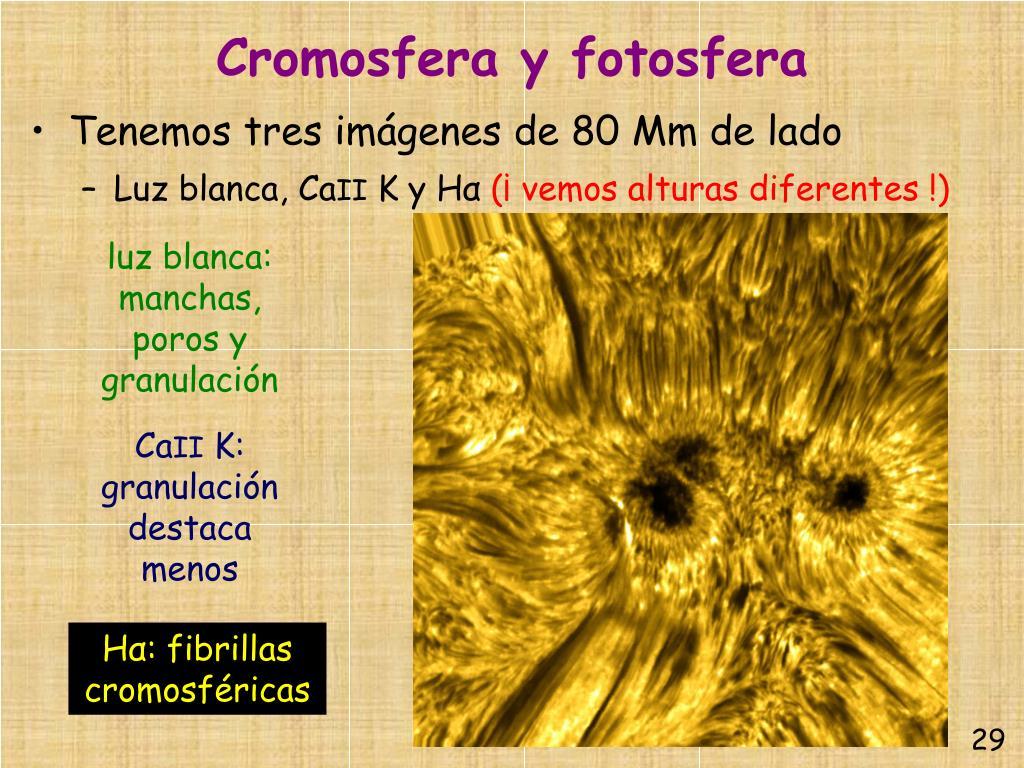 Cromosfera y fotosfera