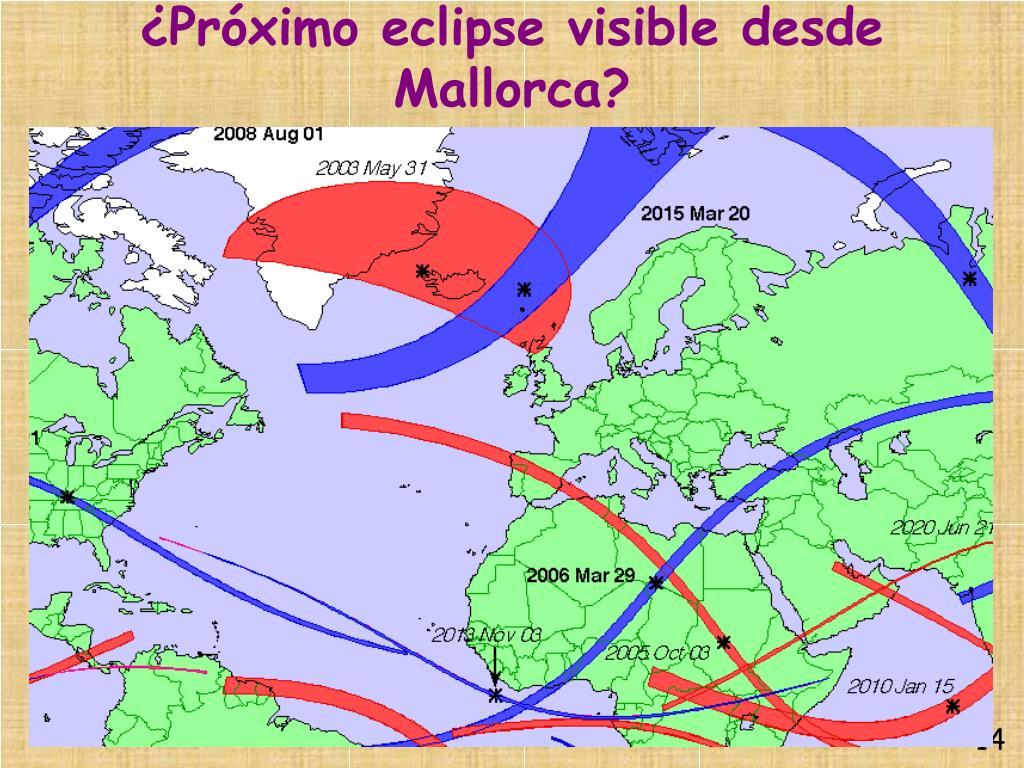 ¿Próximo eclipse visible desde Mallorca?