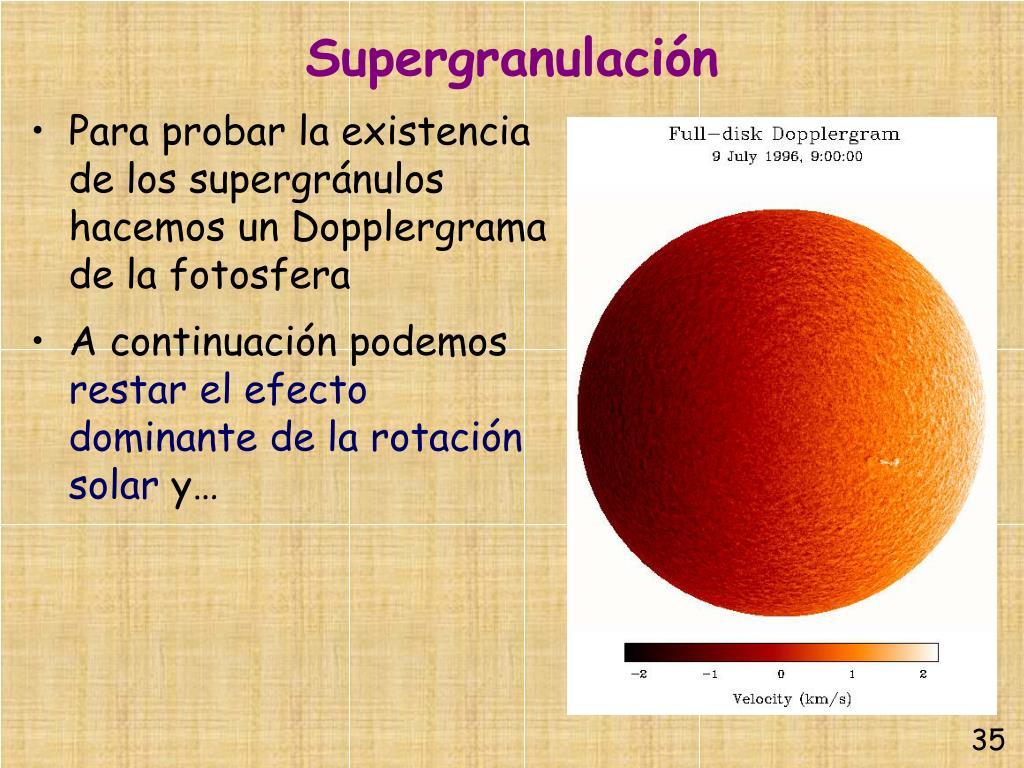 Supergranulación