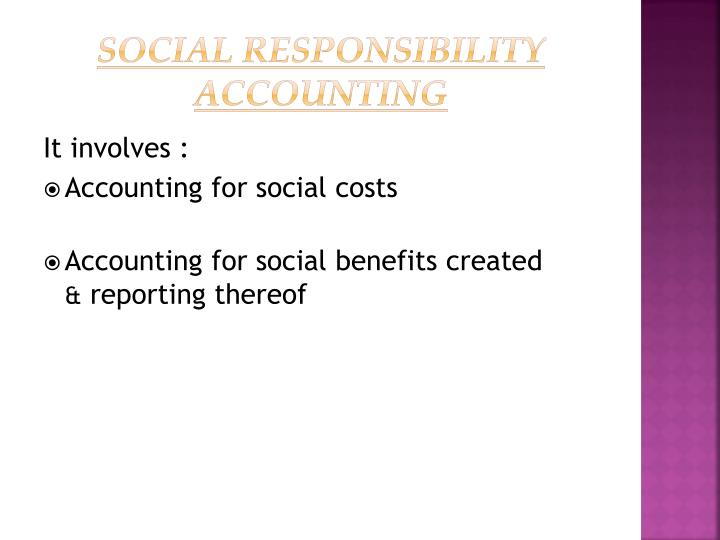 Social Responsibility Accounting