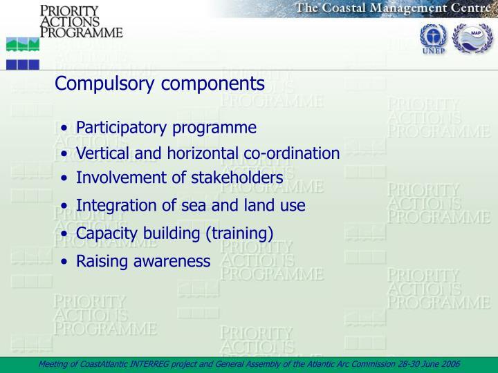 Compulsory components