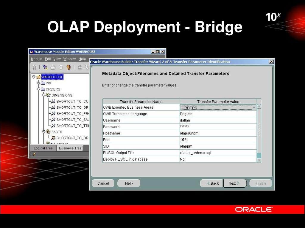 OLAP Deployment - Bridge