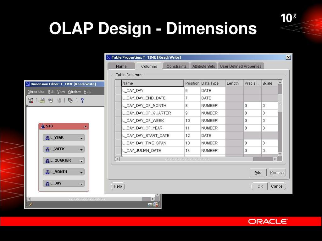OLAP Design - Dimensions