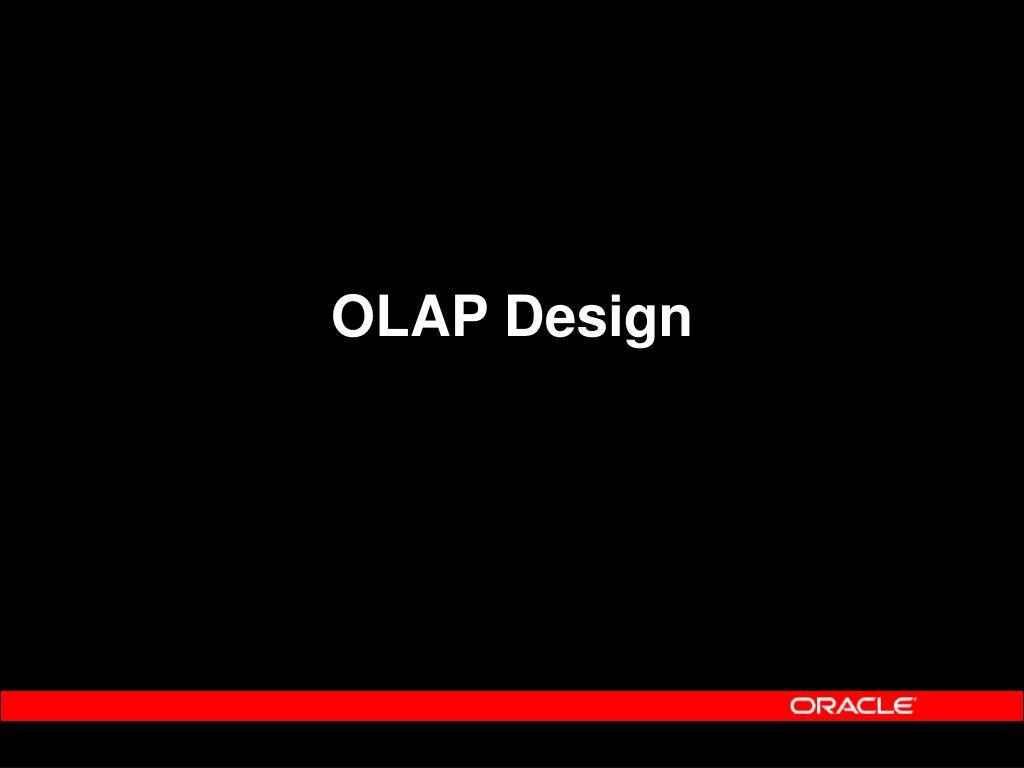 OLAP Design