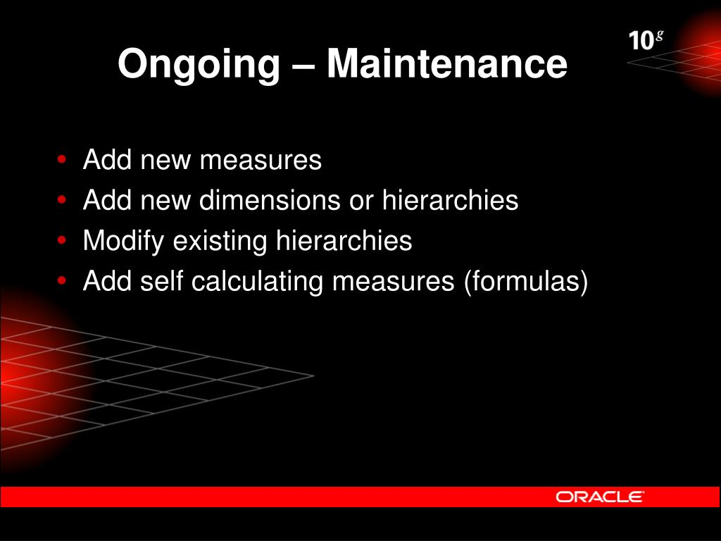 Ongoing – Maintenance