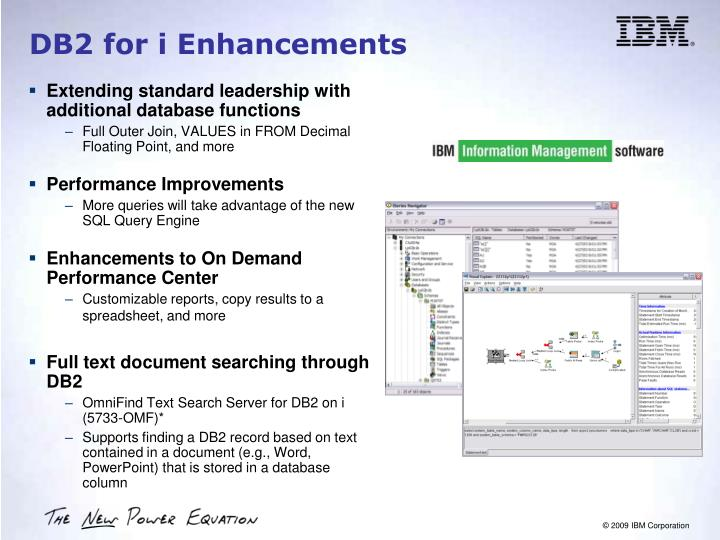 DB2 for i Enhancements