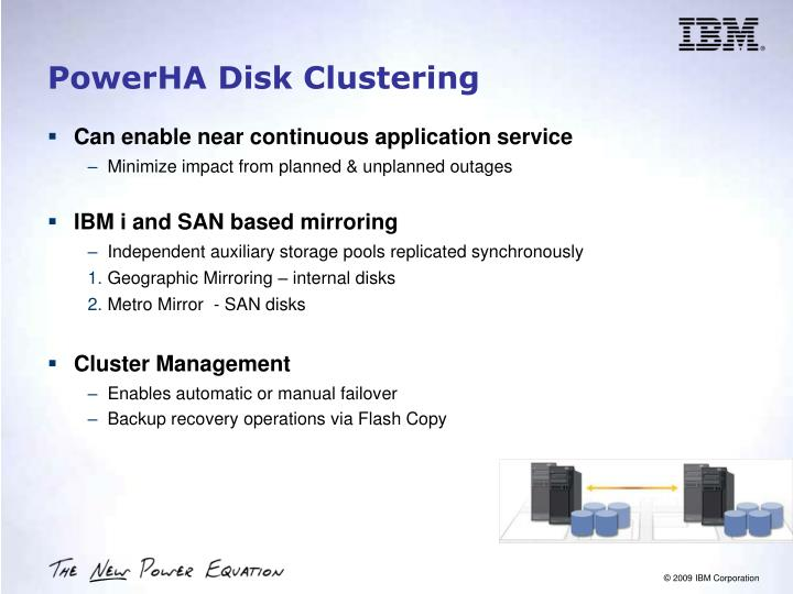 PowerHA Disk Clustering