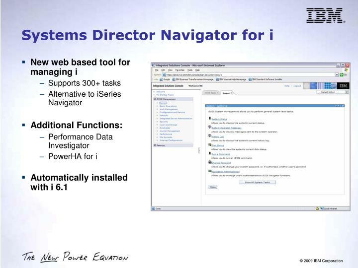 Systems Director Navigator for i