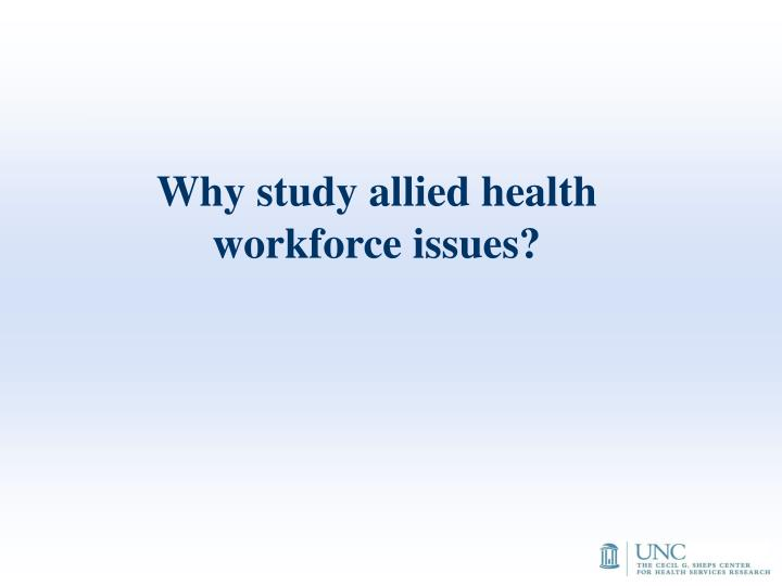 Why study allied health