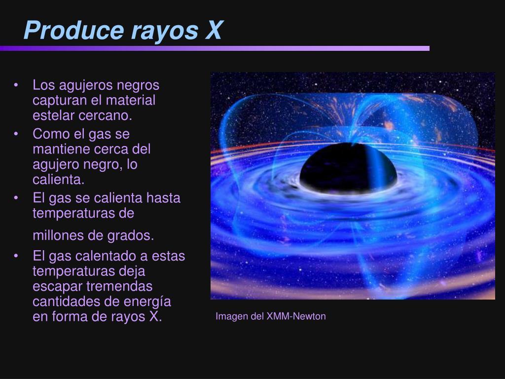Produce rayos X