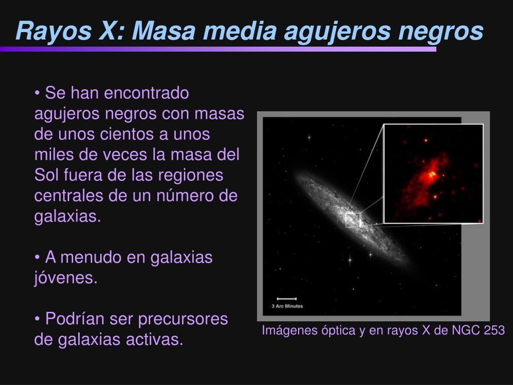 Rayos X: Masa media agujeros negros