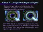 rayos x un agujero negro que gira