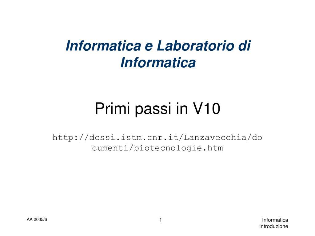 informatica e laboratorio di informatica