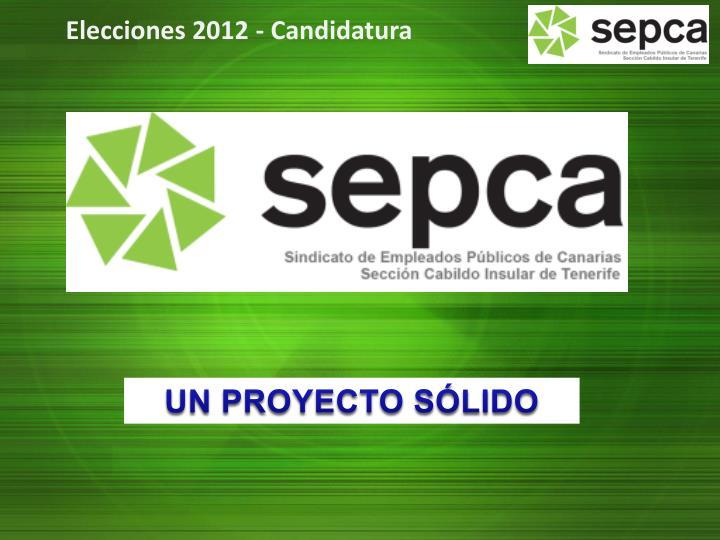 Elecciones 2012 - Candidatura