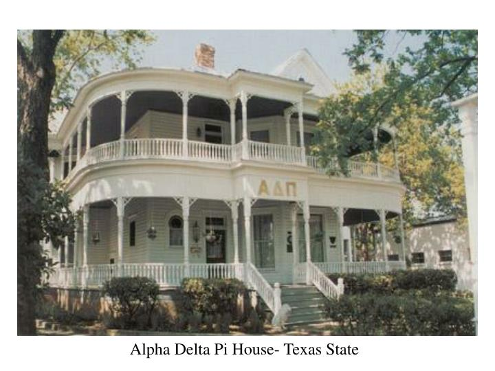 Alpha Delta Pi House- Texas State