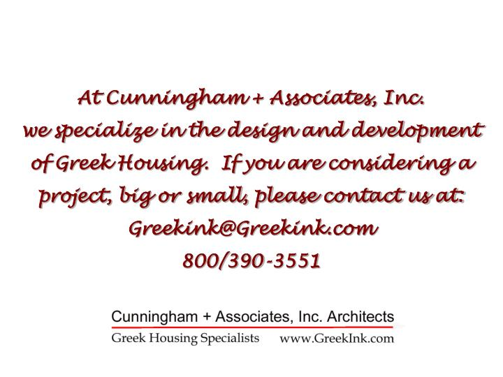 At Cunningham + Associates, Inc.
