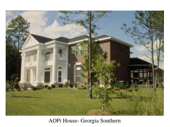 AOPi House- Georgia Southern