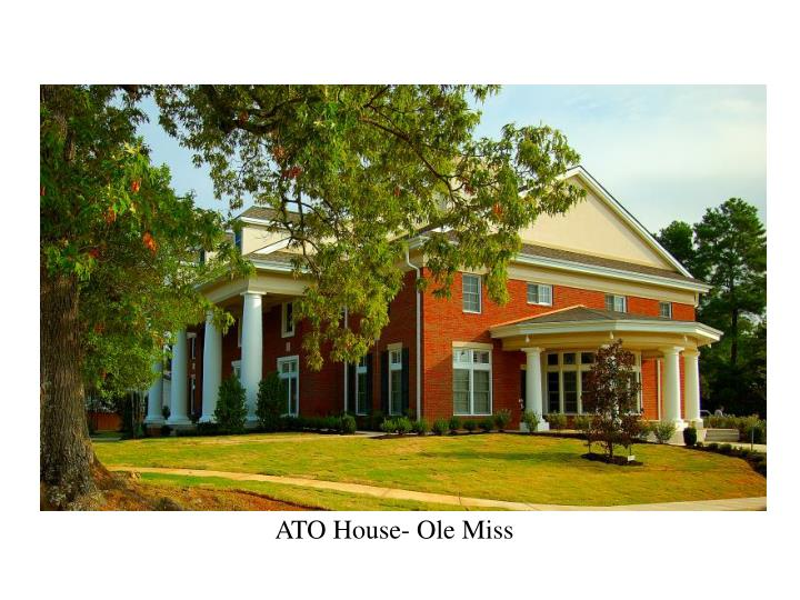 ATO House- Ole Miss