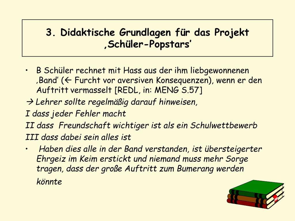 3. Didaktische Grundlagen für das Projekt