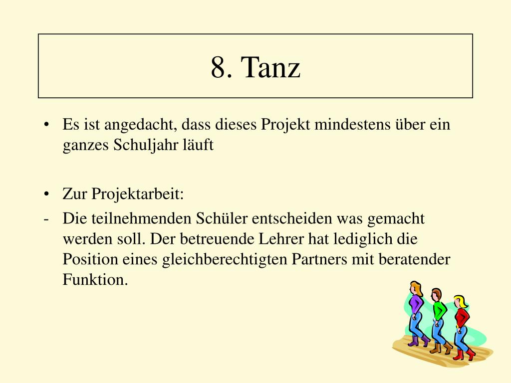 8. Tanz