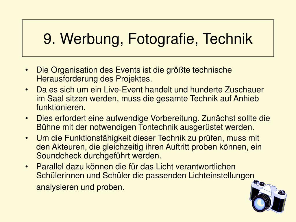 9. Werbung, Fotografie, Technik