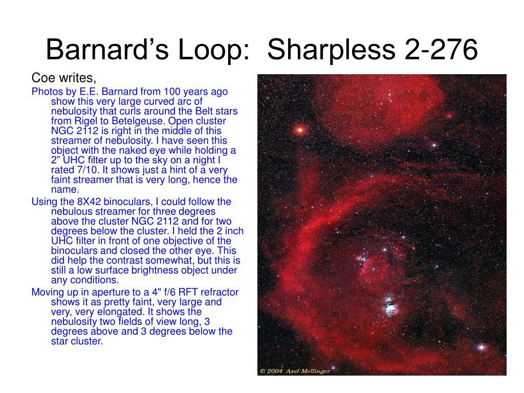Barnard's Loop:  Sharpless 2-276