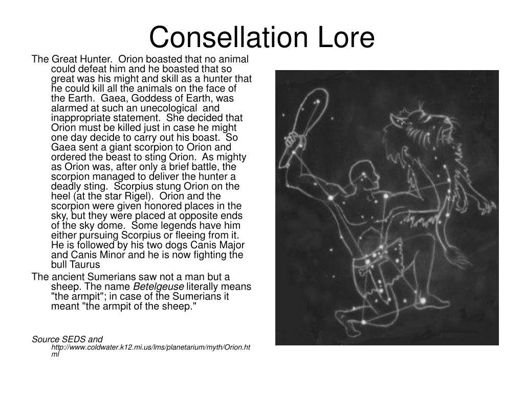 Consellation Lore