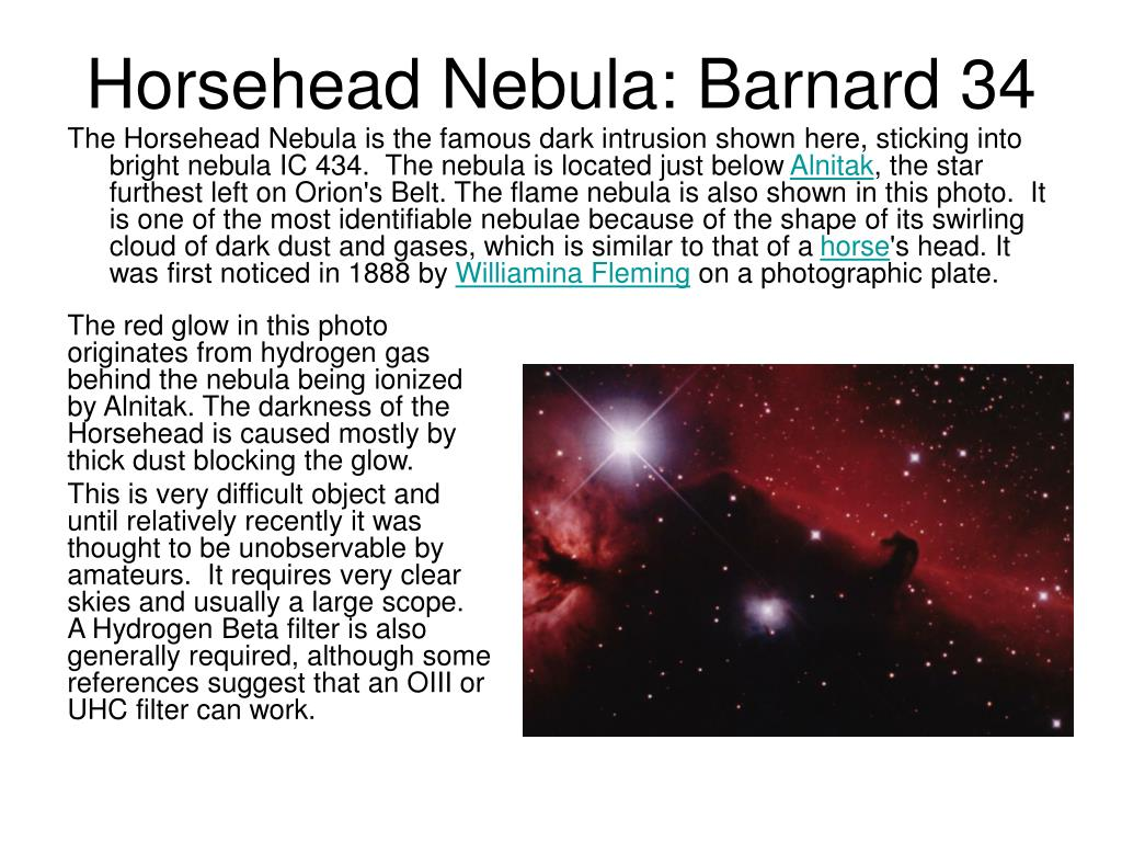 Horsehead Nebula: Barnard 34