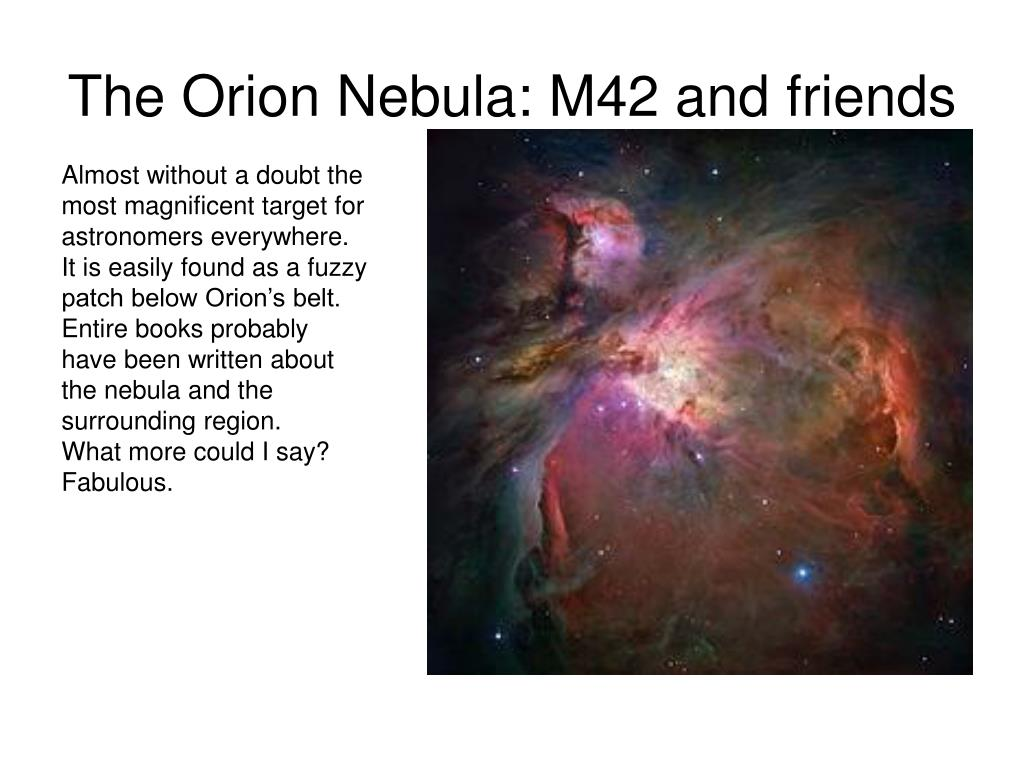 The Orion Nebula: M42 and friends