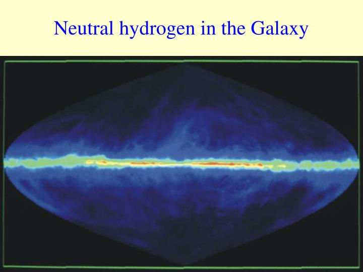 Neutral hydrogen in the galaxy