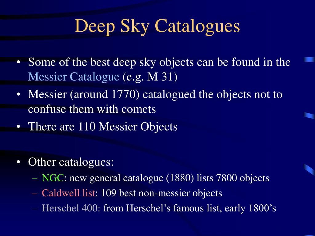 Deep Sky Catalogues