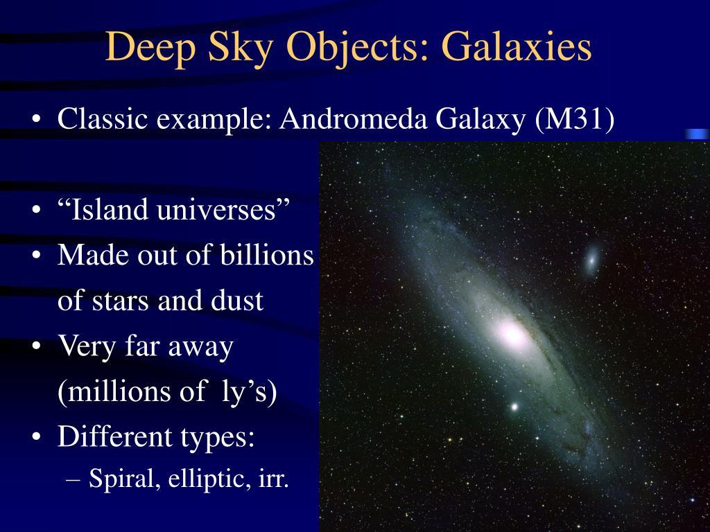 Deep Sky Objects: Galaxies
