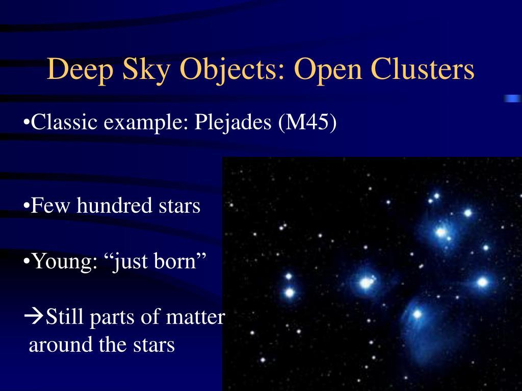 Deep Sky Objects: Open Clusters
