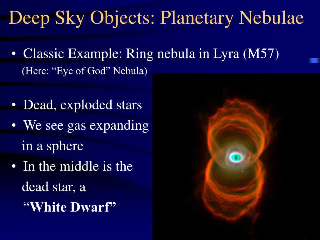 Deep Sky Objects: Planetary Nebulae