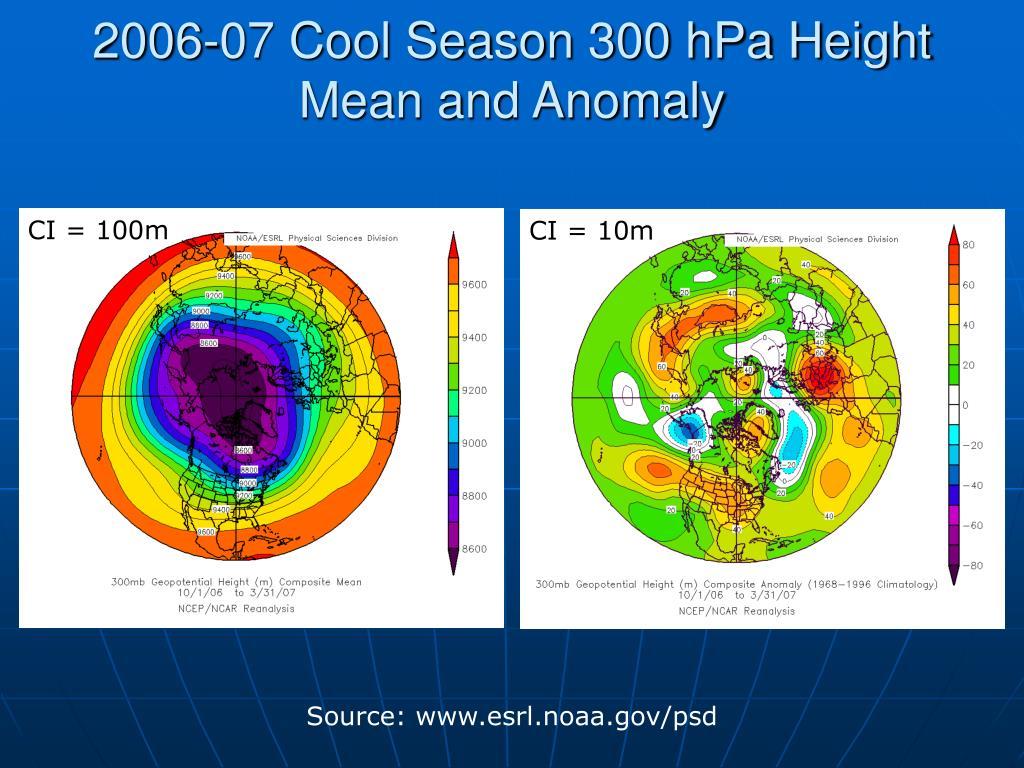 2006-07 Cool Season 300 hPa Height