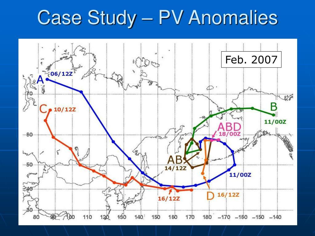Case Study – PV Anomalies