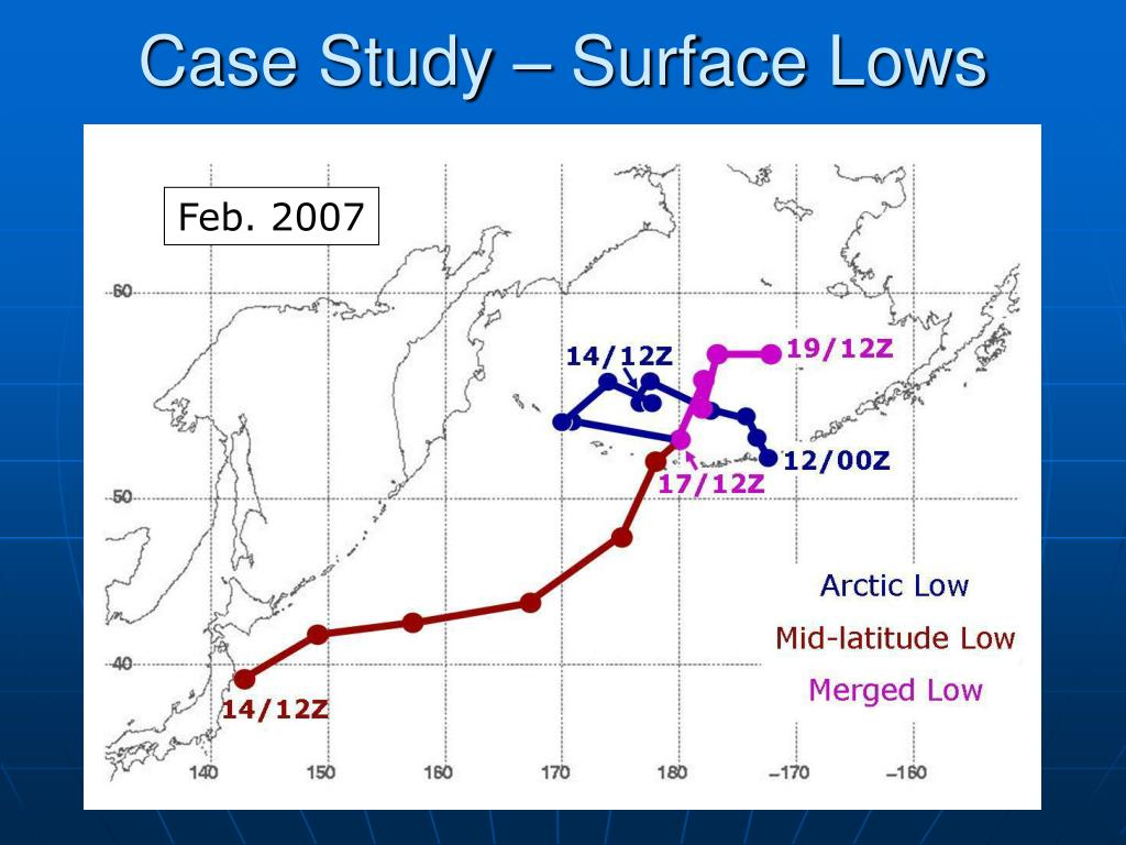 Case Study – Surface Lows