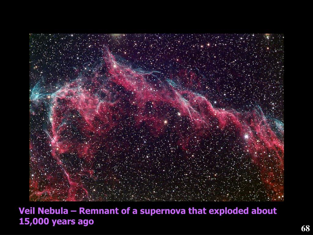 Veil Nebula – Remnant of a supernova that exploded about 15,000 years ago