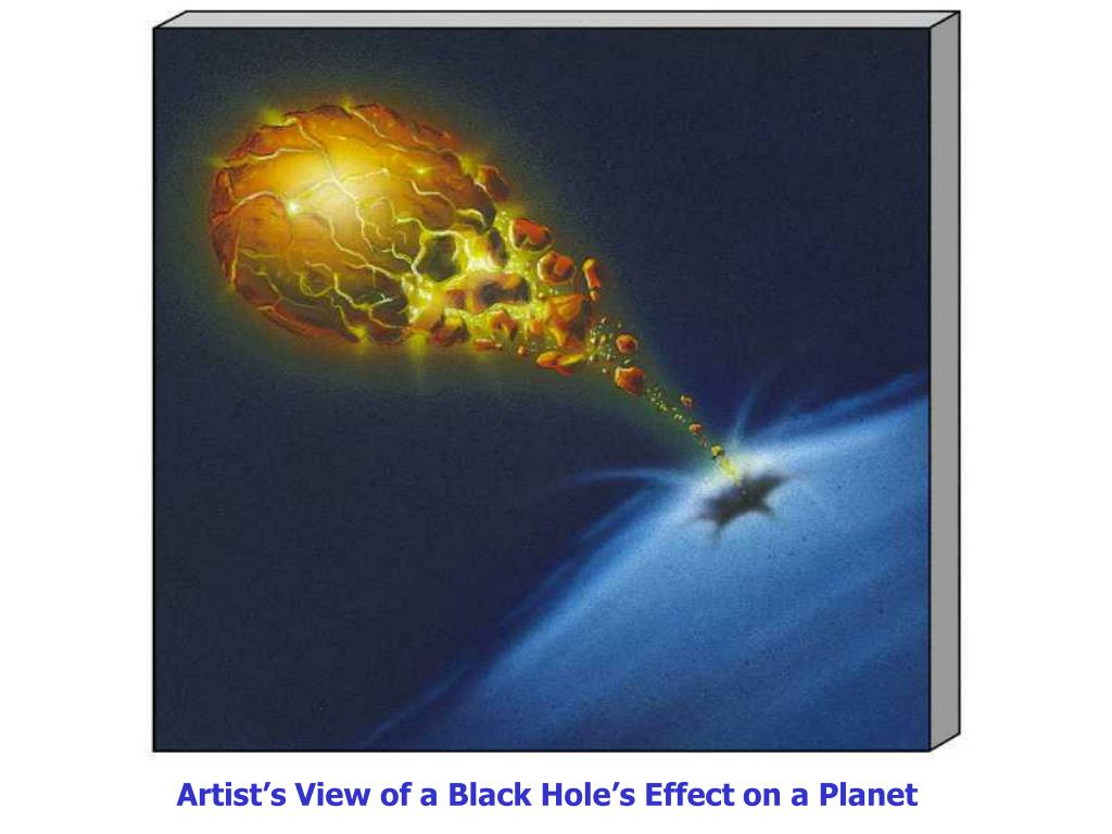 Artist's View of a Black Hole's Effect on a Planet