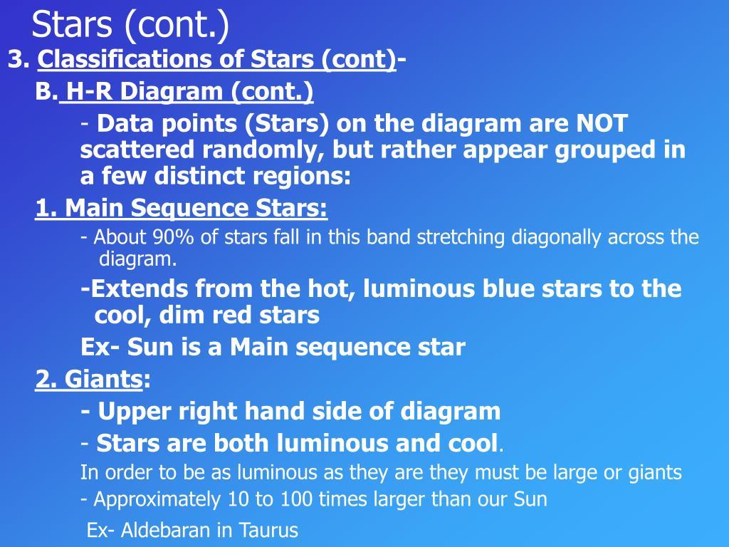 Stars (cont.)