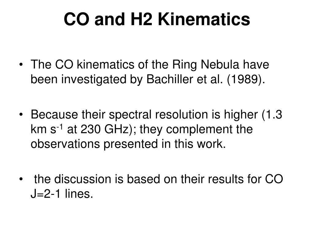 CO and H2 Kinematics