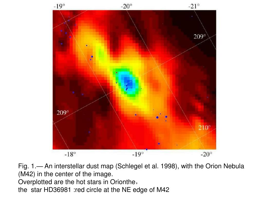 Fig. 1.— An interstellar dust map (Schlegel et al. 1998)