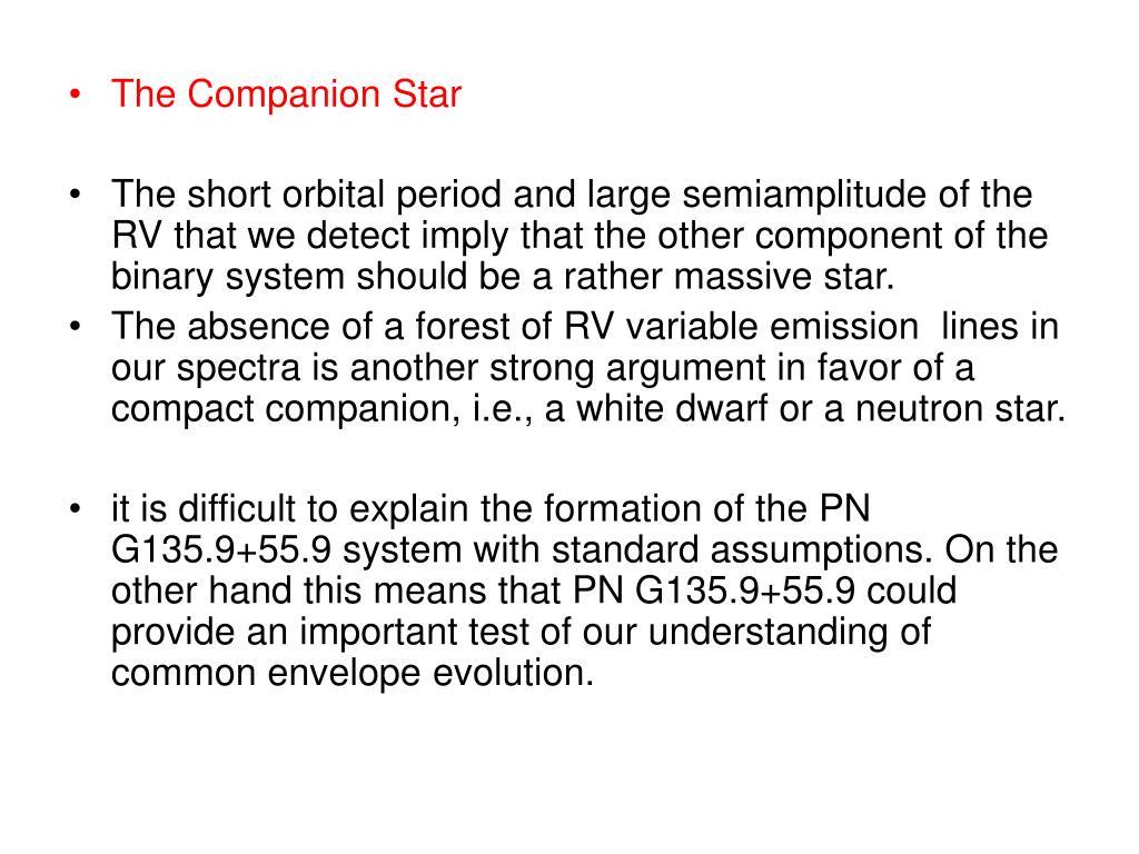 The Companion Star