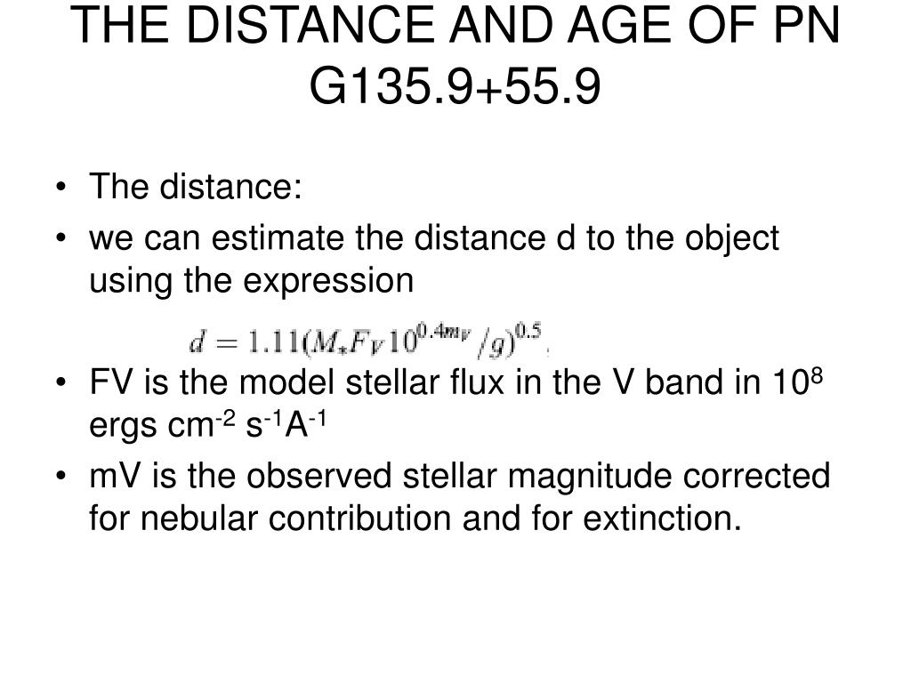THE DISTANCE AND AGE OF PN G135.9+55.9