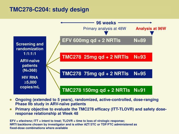 TMC278-C204: study design