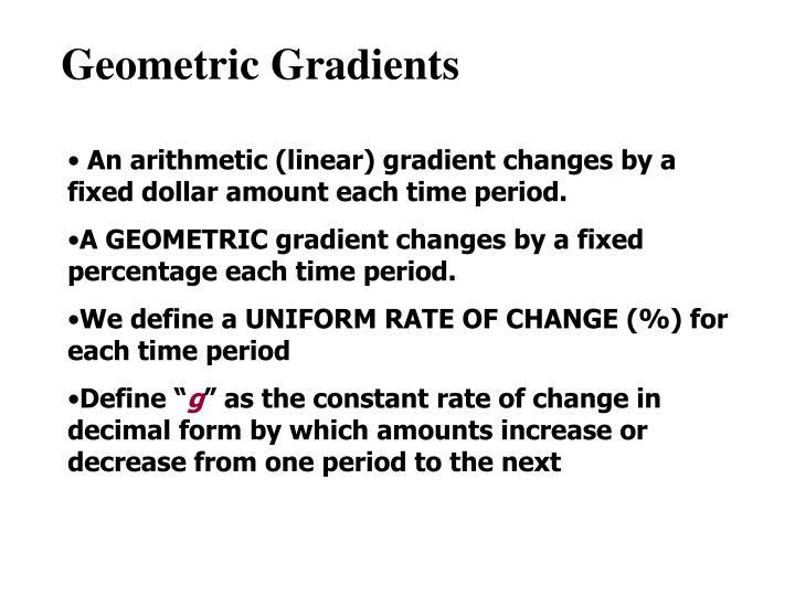 Geometric Gradients