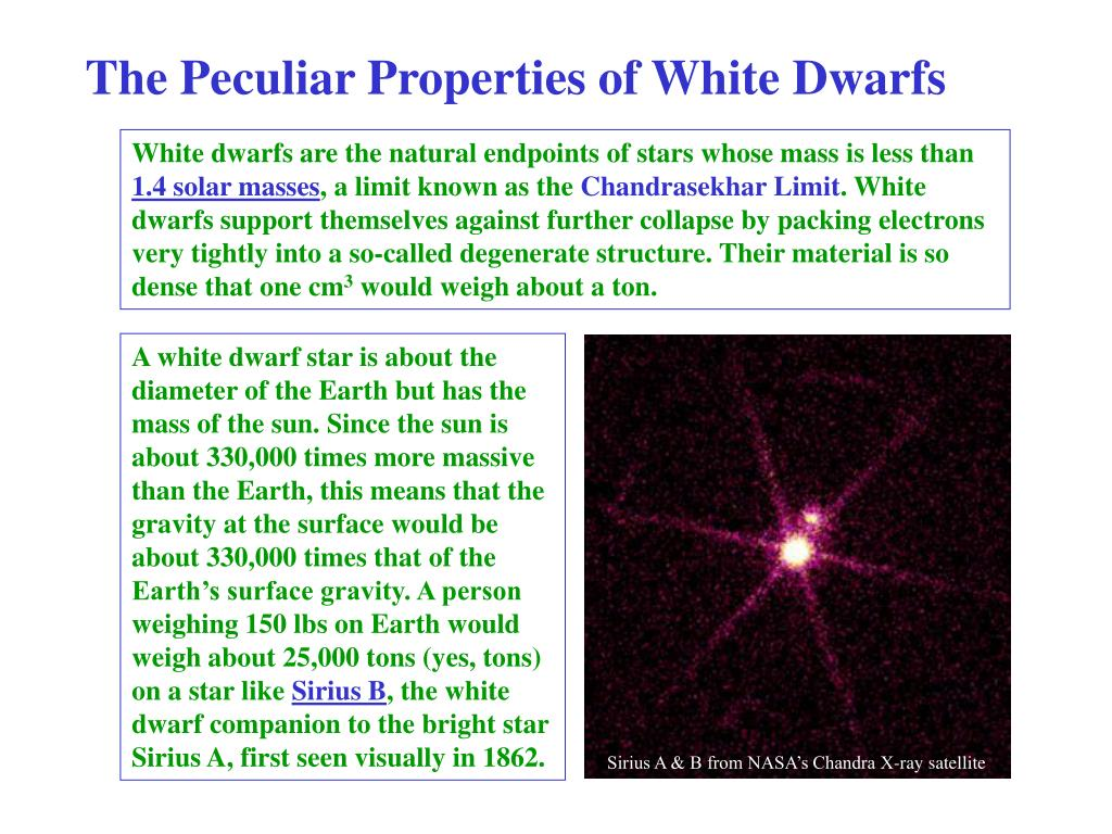 The Peculiar Properties of White Dwarfs