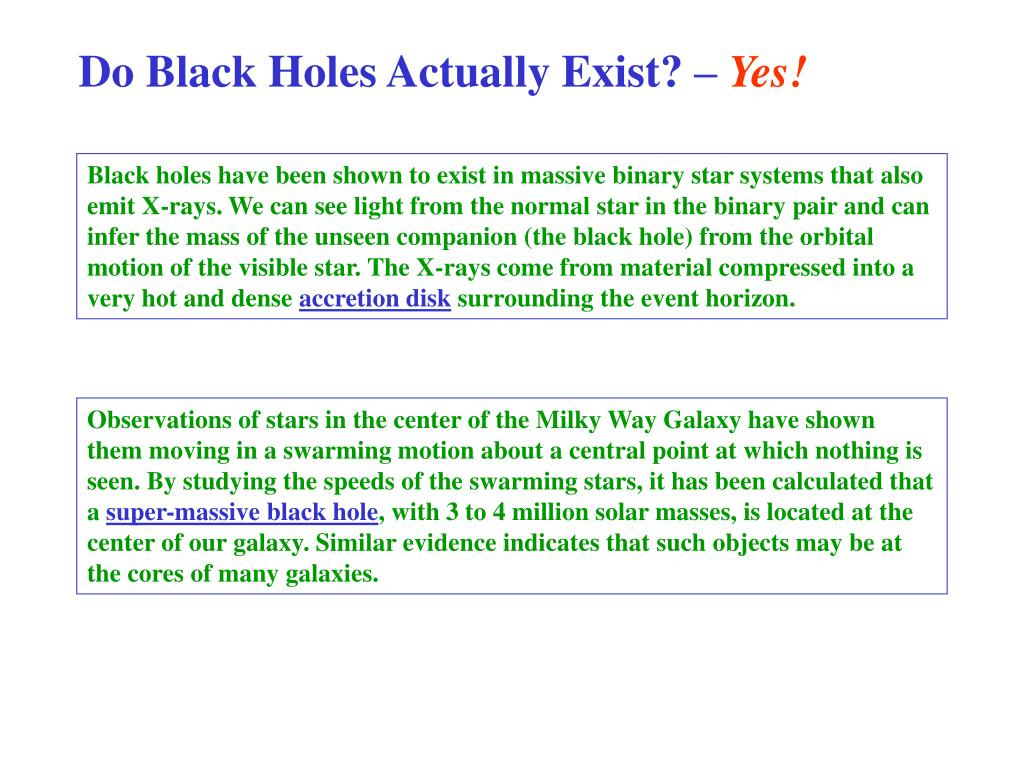 Do Black Holes Actually Exist? –
