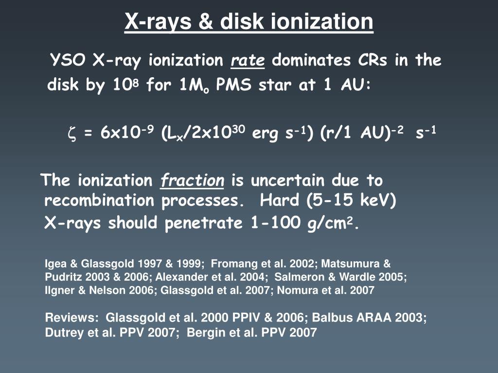 X-rays & disk ionization